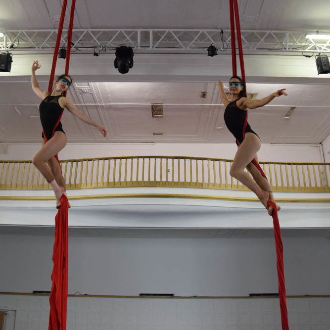 Aerial Silks Duet by Elena and Natalie